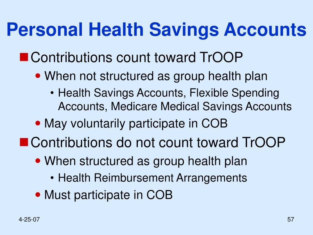 Personal Health Savings Accounts