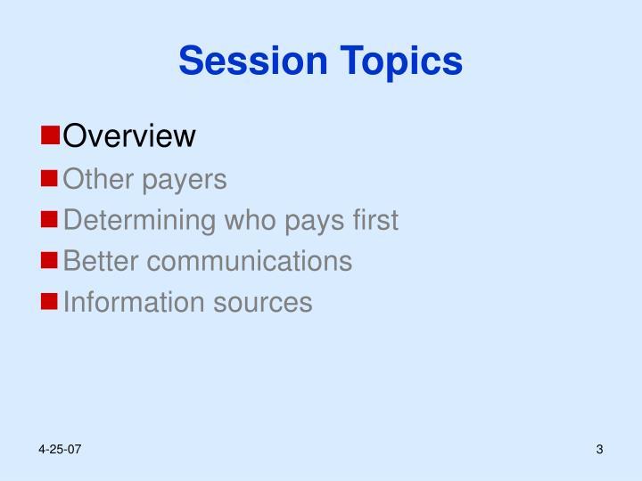 Session topics3