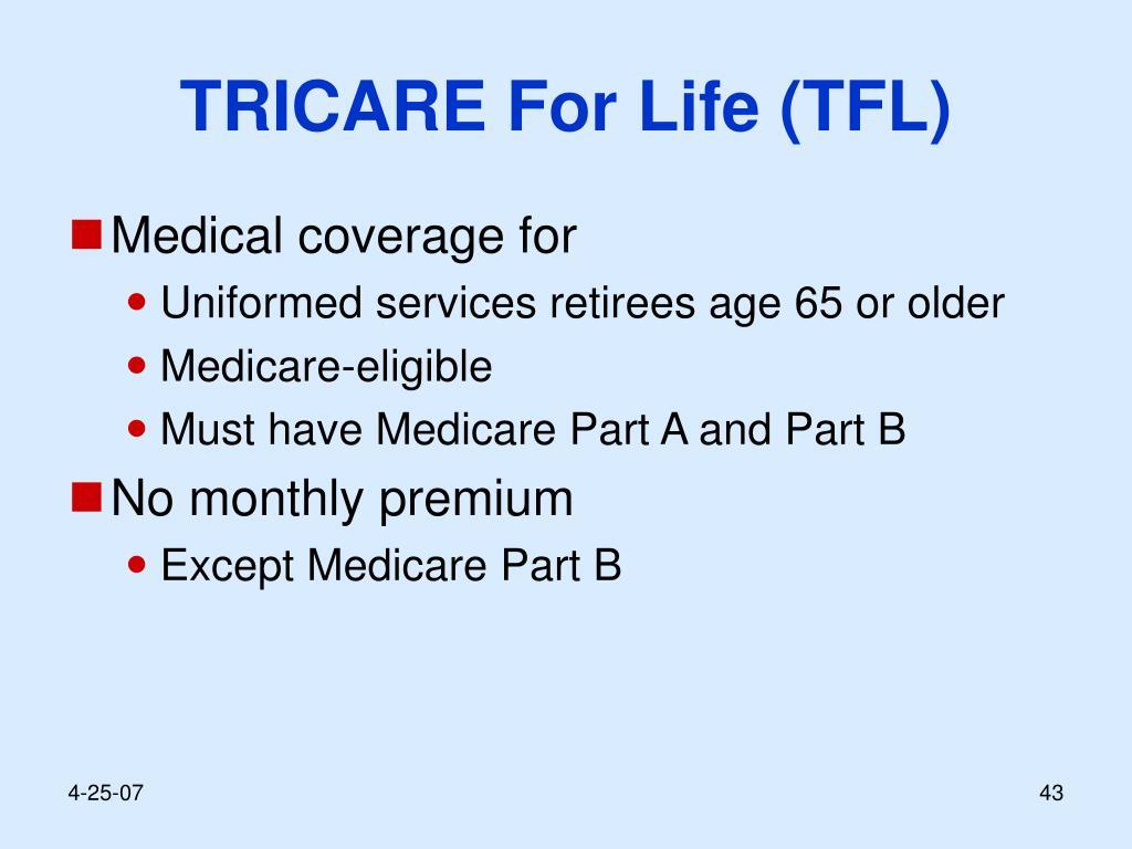 TRICARE For Life (TFL)