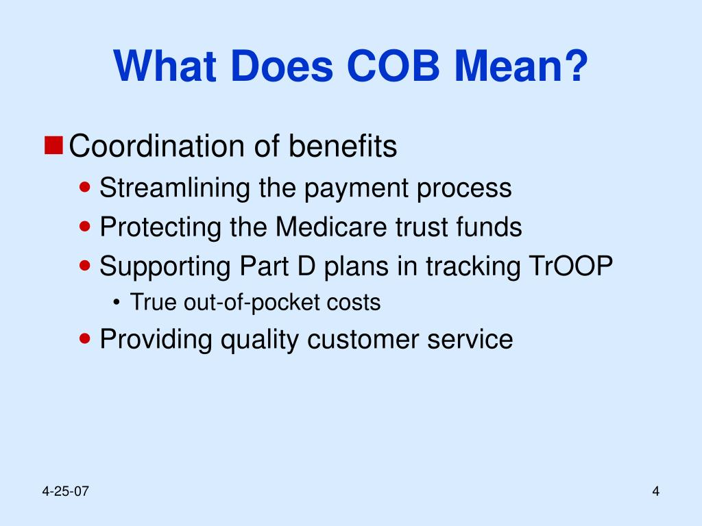 What Does COB Mean?