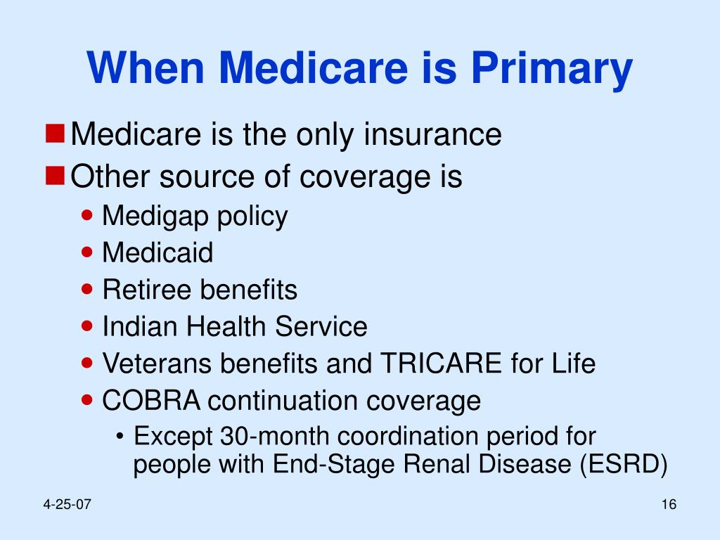 When Medicare is Primary