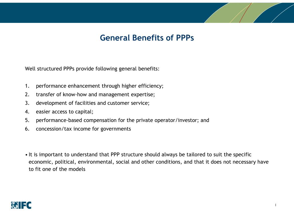 General Benefits of PPPs