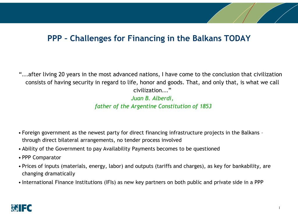 PPP – Challenges for Financing in the Balkans TODAY