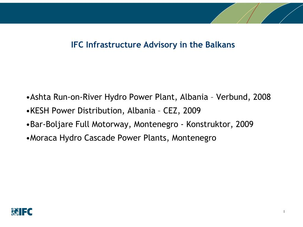 IFC Infrastructure Advisory in the Balkans