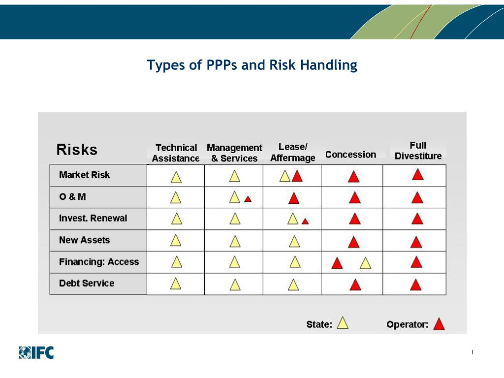 Types of PPPs and Risk Handling