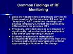 common findings of rf monitoring18