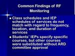 common findings of rf monitoring22