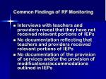 common findings of rf monitoring25