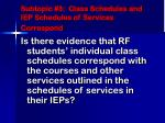 subtopic 3 class schedules and iep schedules of services correspond