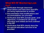 what will rf monitoring look for27