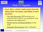 task 3 5 agenda