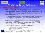 todo list by each partner