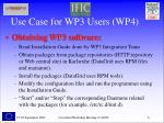 use case for wp3 users wp4
