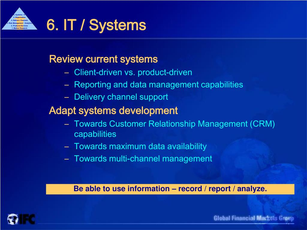 6. Systems / IT