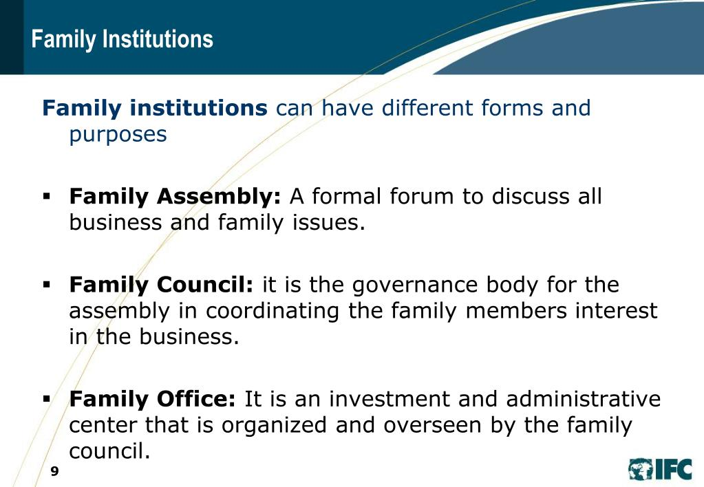Family Institutions