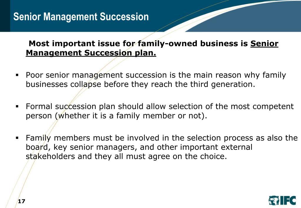 Senior Management Succession