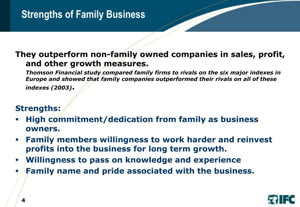 Strengths of Family Business
