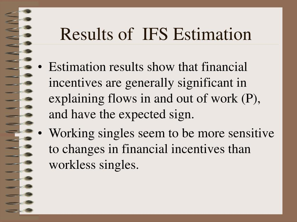 Results of  IFS Estimation