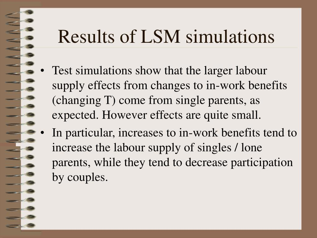 Results of LSM simulations
