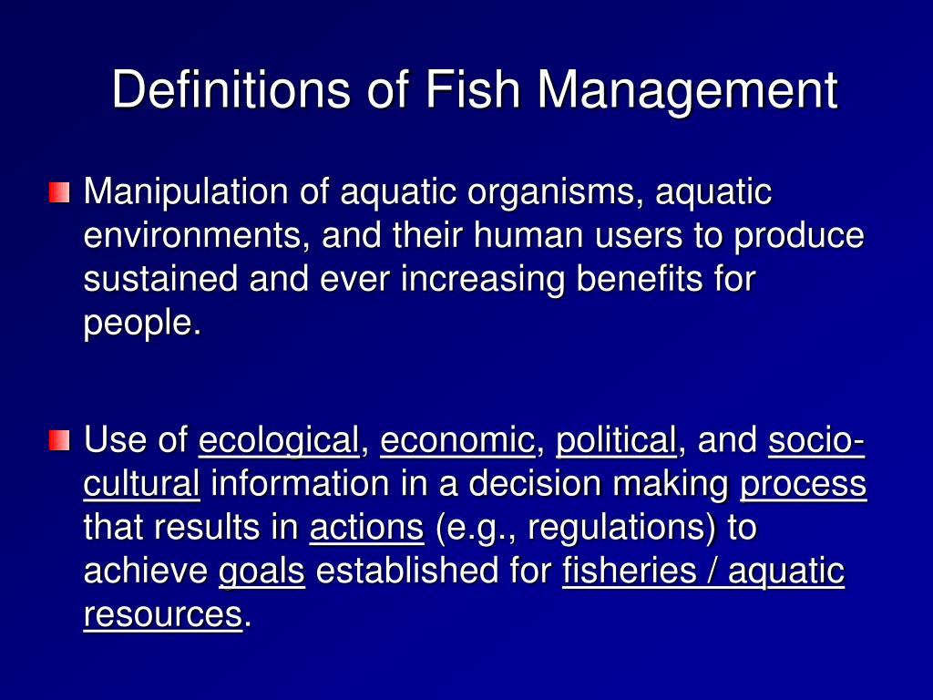 Definitions of Fish Management