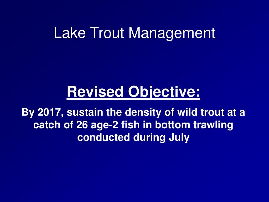Lake Trout Management