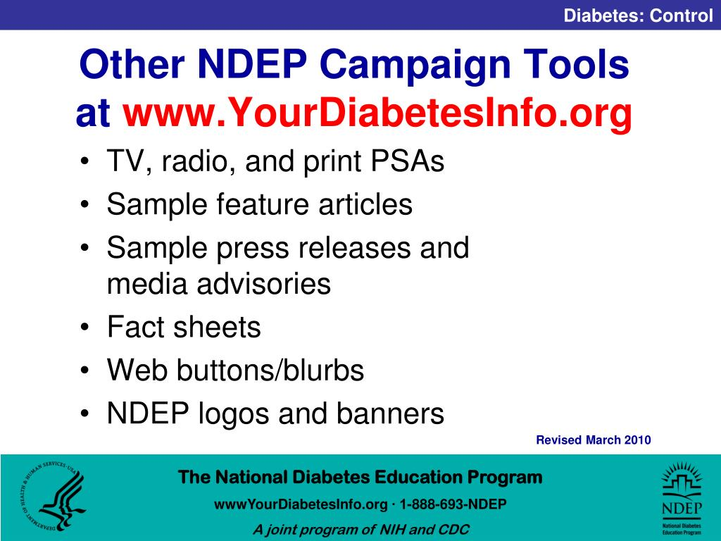 Other NDEP Campaign Tools