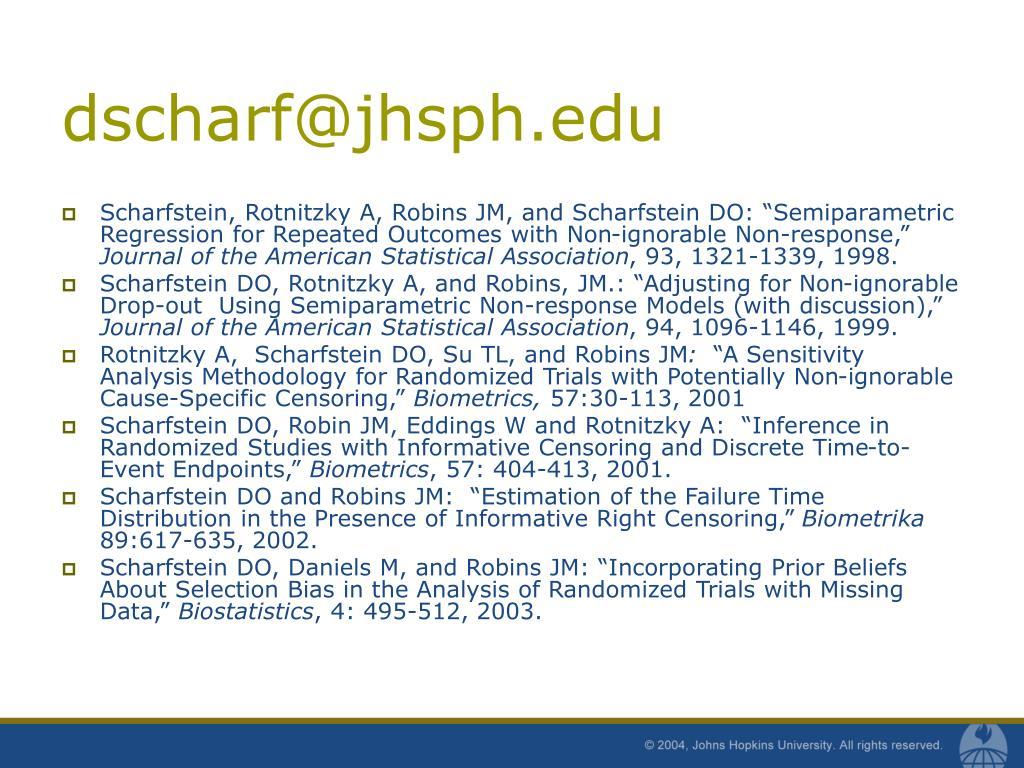 dscharf@jhsph.edu