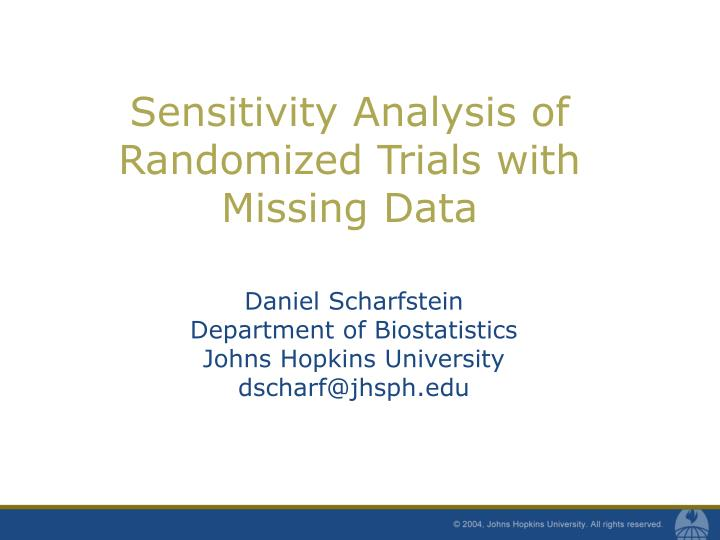 Sensitivity analysis of randomized trials with missing data