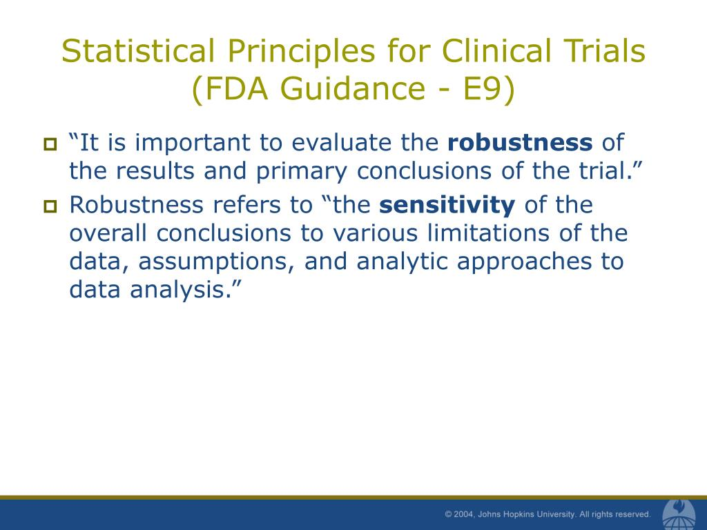 Statistical Principles for Clinical Trials