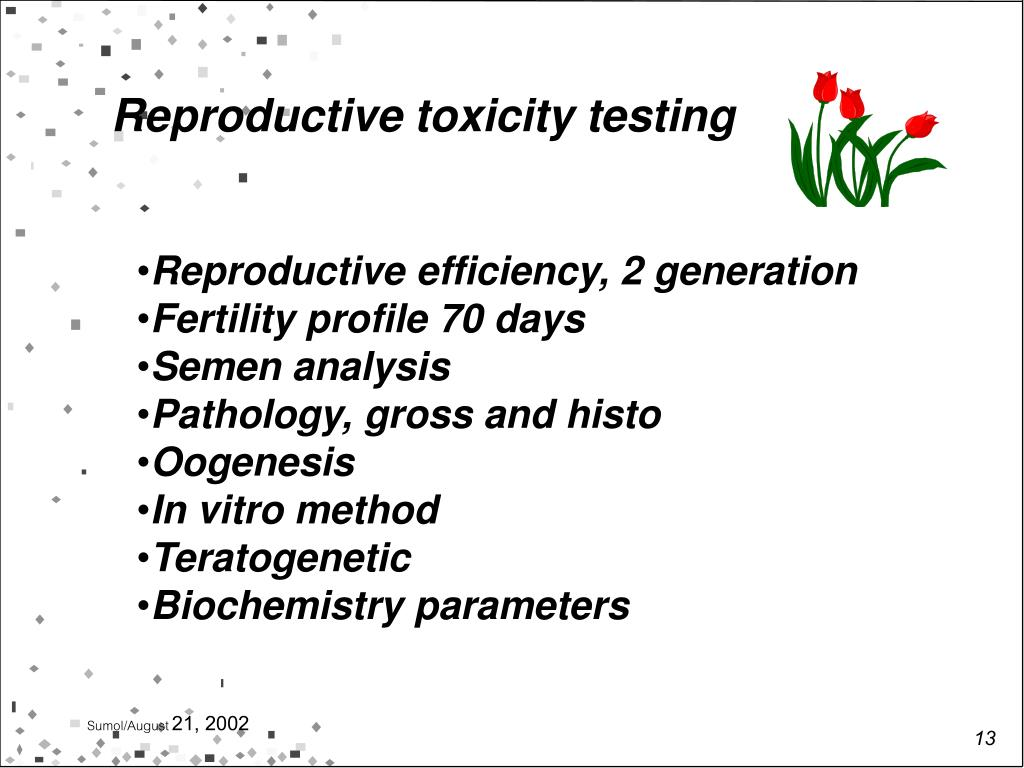 Reproductive toxicity testing