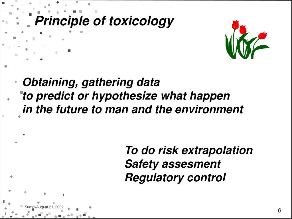 Principle of toxicology