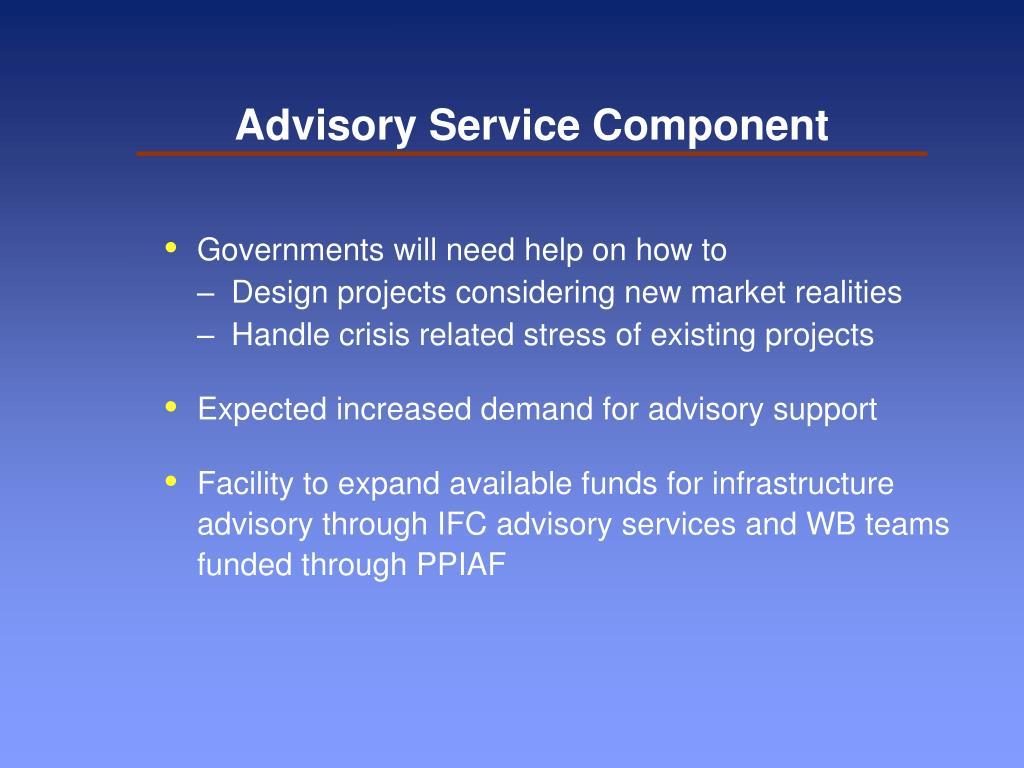 Advisory Service Component