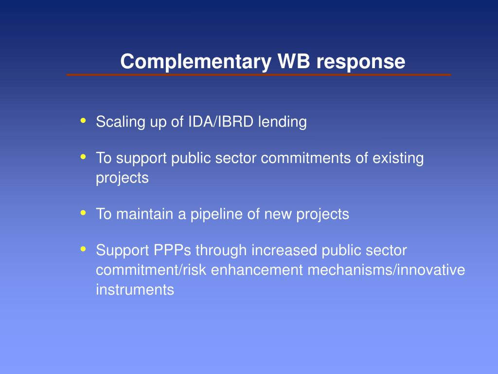 Complementary WB response