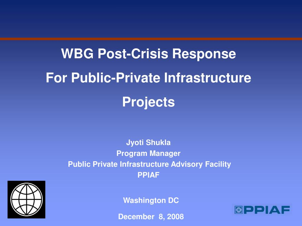WBG Post-Crisis Response
