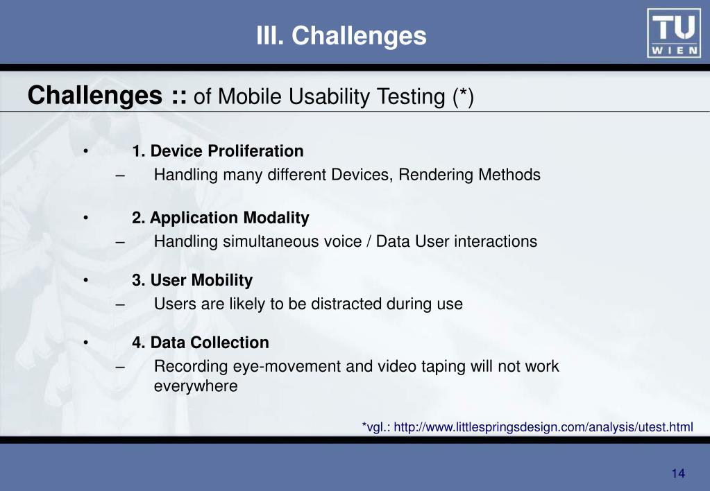 Challenges ::