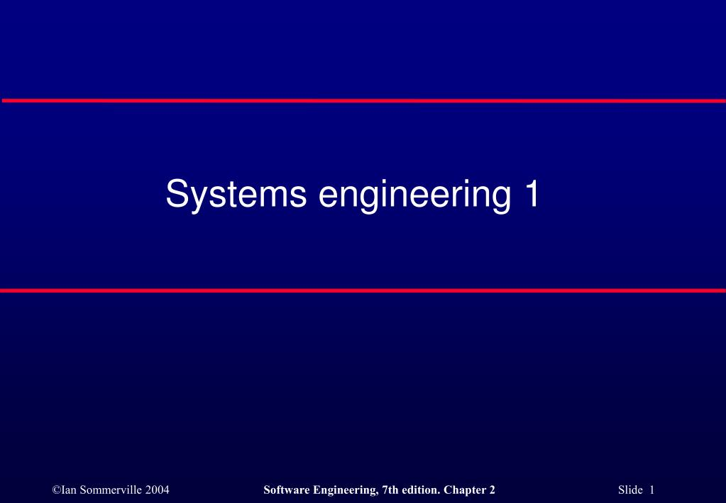 systems engineering 1