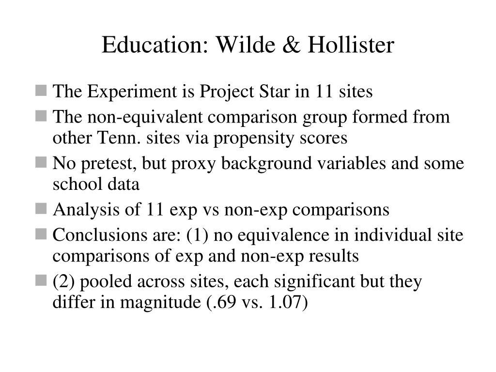 Education: Wilde & Hollister
