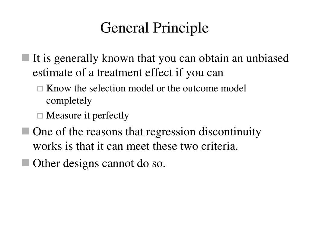 General Principle