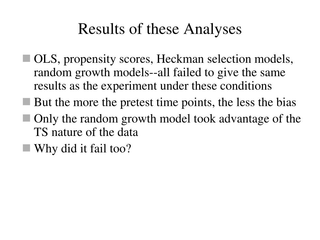Results of these Analyses