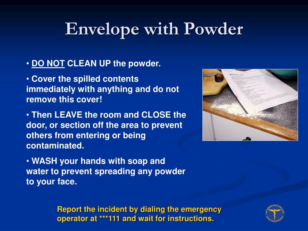 Envelope with Powder