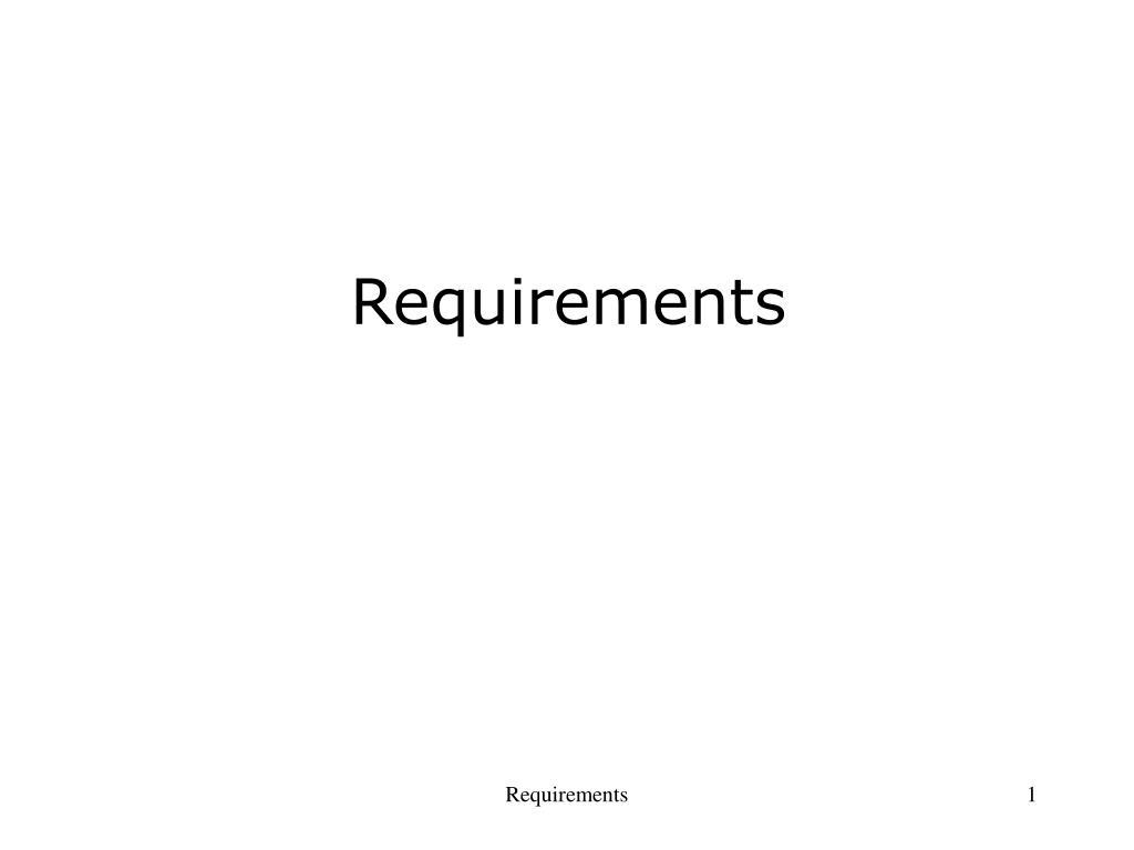 requirements l.
