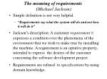 the meaning of requirements michael jackson26