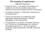 the meaning of requirements michael jackson27