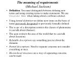 the meaning of requirements michael jackson29