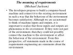 the meaning of requirements michael jackson31
