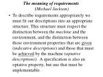 the meaning of requirements michael jackson37