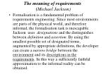 the meaning of requirements michael jackson38