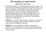 the meaning of requirements michael jackson42