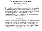 the meaning of requirements michael jackson52