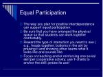 equal participation